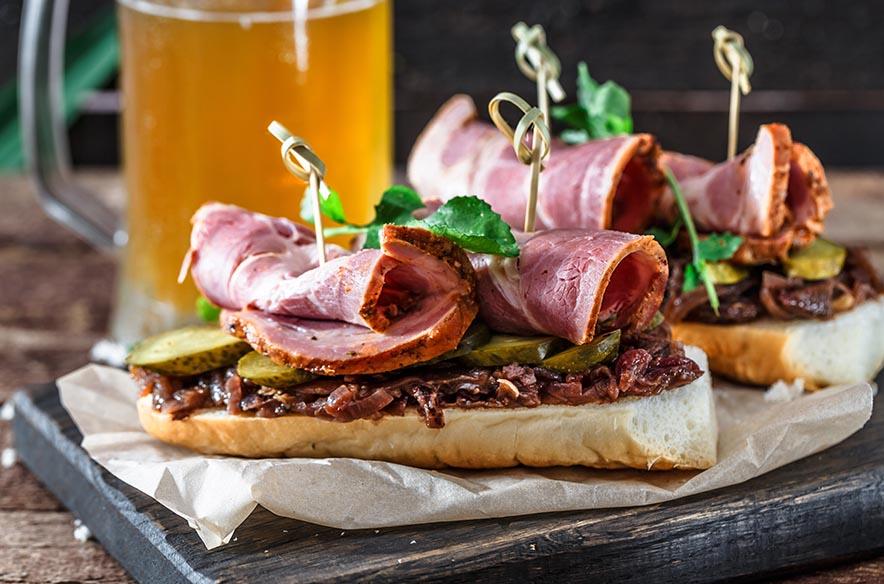 Köstliche Sandwiches, die Sie jederzeit essen würden
