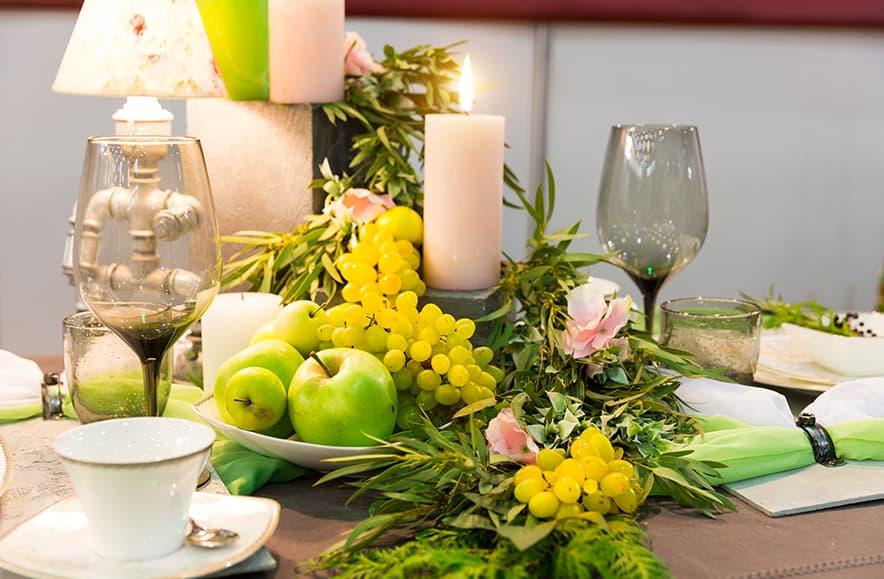 Die richtige Dekoration für ein romantisches Abendessen